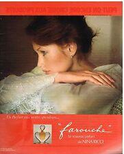 """Publicité Advertising 1976 Parfum """"Farouche"""" Nina Ricci par david Hamilton"""