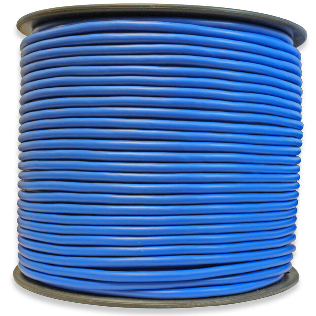 500 FT Spool of Balanced Pro Audio Wire for XLR TRS 2 Conductor 3 With Blue  #66a