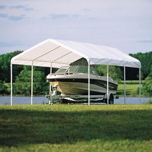 best service da522 0beba Details about 12x20 ShelterLogic Canopy 8 Leg Commercial Grade Carport  Party Tent 25773