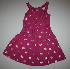 Gymboree Spice Market 8 Pink Elephant Dress Summer 16