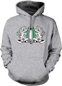 capuche Nigéria Sweat avec symbole lion blanc du à nigérian aRzxP5