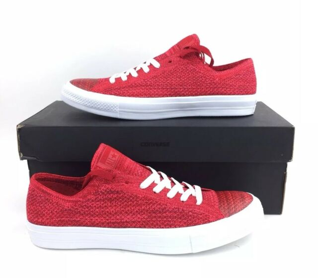 b3cc00ddd99 NEW Converse CTAS x Nike Flyknit Ox Shoes Sneakers Red White 157593C Mens  Sz 10
