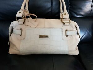 2f10d7e35e Image is loading Betty-Barclay-handbag-in-cream-leather-and-alligator-