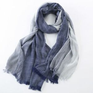 e6c0200d4 Image is loading Plaid-Striped-Wrinkled-1pc-Scarf-Fashion-Winter-Wrap-