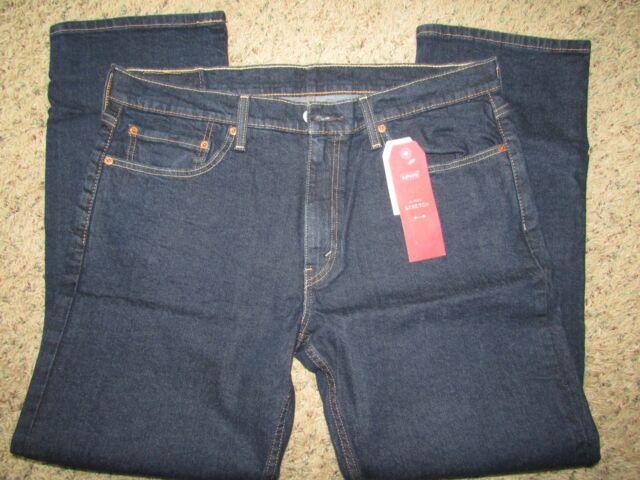 5d7f720697b Men s Levi s Strauss 514 Regular Fit Straight Leg Dark Wash Jeans 36 X 30