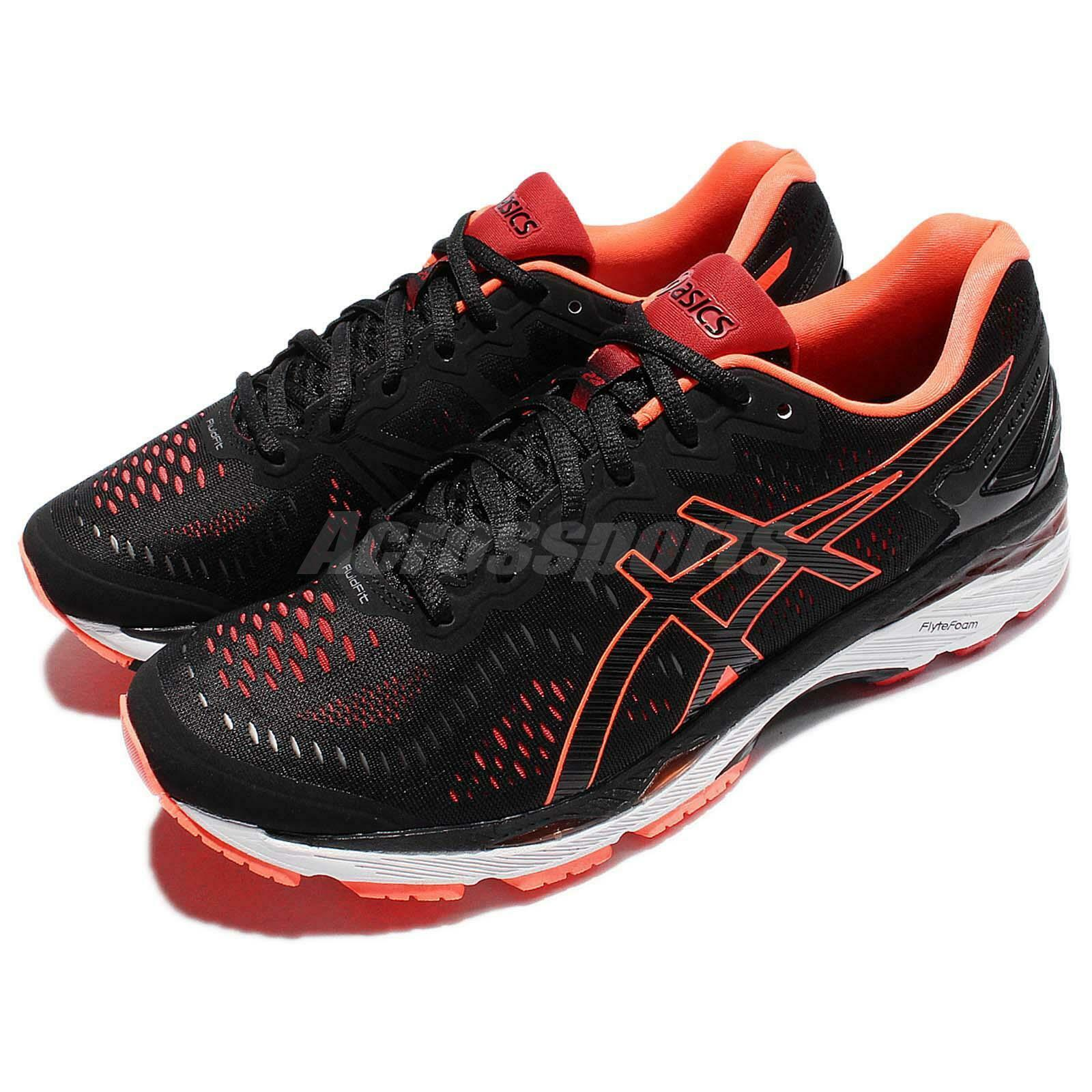 Asics Gel-Kayano 23 zwart oranje mannen hardlopen schoenen sportschoenen Trainers T646N-9030