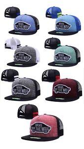 VANS-LATEST-STYLE-BASEBALL-TRUCKER-HATS-FLAT-BRIM-BRAND-NEW