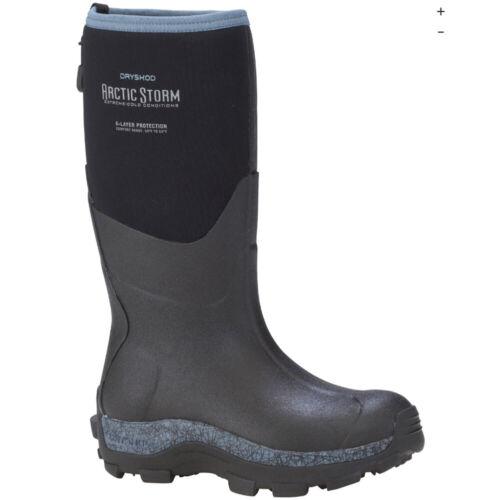 Arctic Storm Women/'s Winter Boot High Cut Details about  /Dryshod ARS-WH-BL Black//Blue