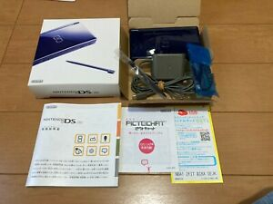 Nintendo-DS-Lite-console-Enamel-Navy-Color-Console-with-BOX-and-Manual