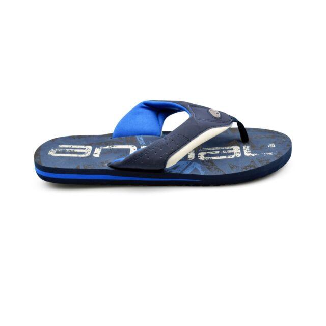 92a0ae5ac620 Animal® Jekyl Logo Mens Dark Navy Flip Flops Sandals Brand New on Sale