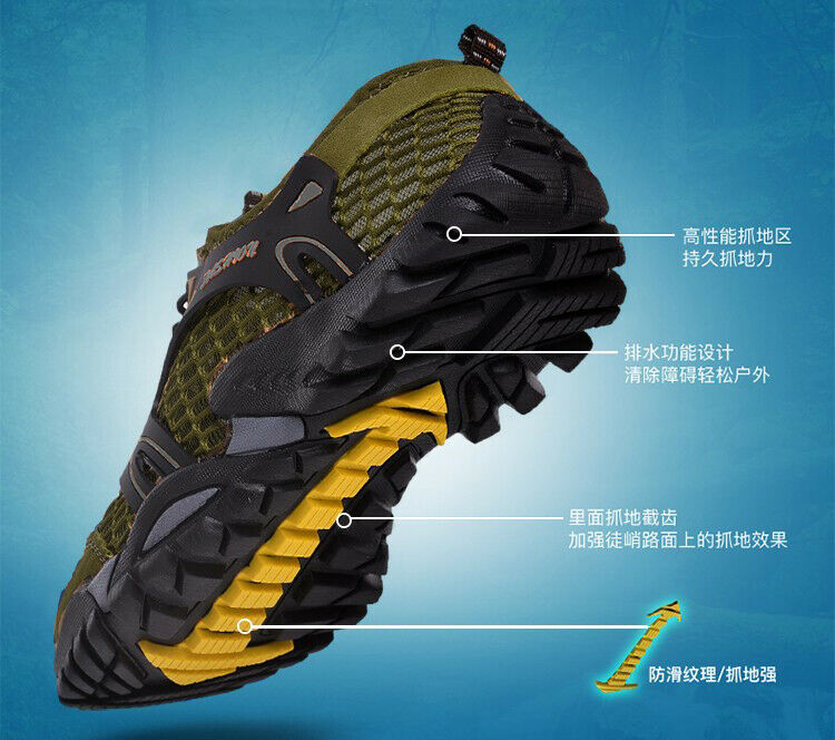 890746b3e Men shoes Fishing River Tracing Wet Wading Water Remove US Size 8-10 Green