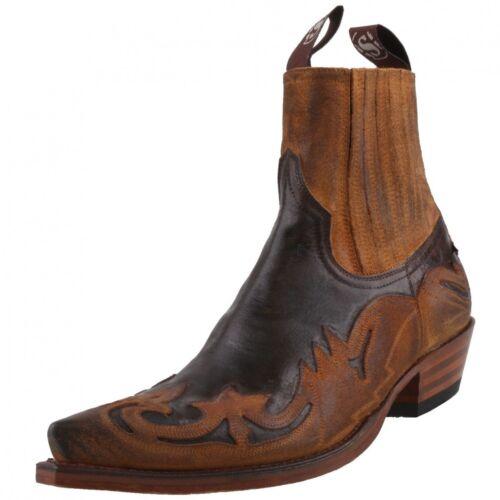 NEUF sendra Boots Chaussures Hommes 4660 western-Bottine Bottes Chaussures Marron