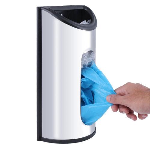 Stainless Steel Wall Mount Plastic Bag Saver Holder Dispenser Organizer Storage