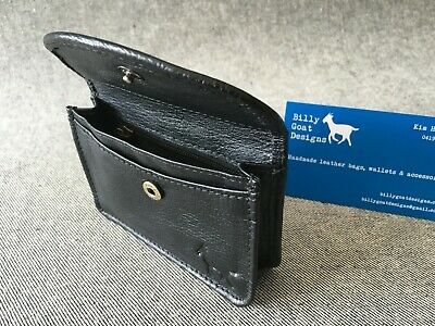 Leather Small Coin Pouch Purse CPB credit card Wallet Zip Billy Goat Designs