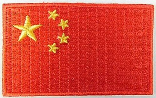 China Aufnäher gestickt,Flagge Fahne,Patch,Aufbügler,6,5cm,neu