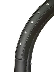 Sumex-Fashion-Collection-Soft-Leather-Car-Steering-Wheel-Cover-Black-Diamonds