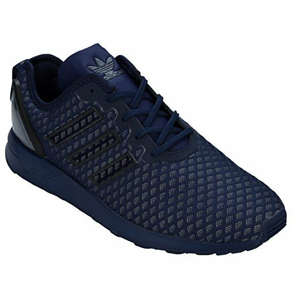 Uomo adidas ZX Flux ADV Dark Blau Textile Synthetic Trainers AQ6752 uk 8