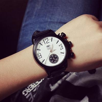 Fashion Men Women Watch large Dial Silicone Quartz Sports Analog Wrist Watches