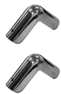 Boat-Gunwale-Corner-Cap-316g-Stainless-Steel-Fender-Corner-Cap-x-2-Suits-35mm