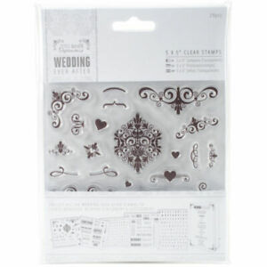 Wedding Rubber Stamping.Details About Papermania Unmounted Rubber Stamps Set 5x5 Wedding Ever After Flourishes