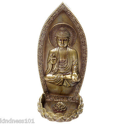 Wall Mounted Thai Buddha Resin Ash Catcher Incense Holder with Insence Sticks