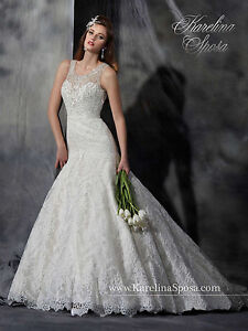 NEW Karelina Sposa Marys Bridal Gown C8043 Mermaid Lace Wedding - Marys Wedding Dresses