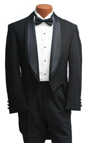 Men/'s Black Oscar de la Renta Tuxedo Tailcoat Formal Gala Tails Coat 40 Regular