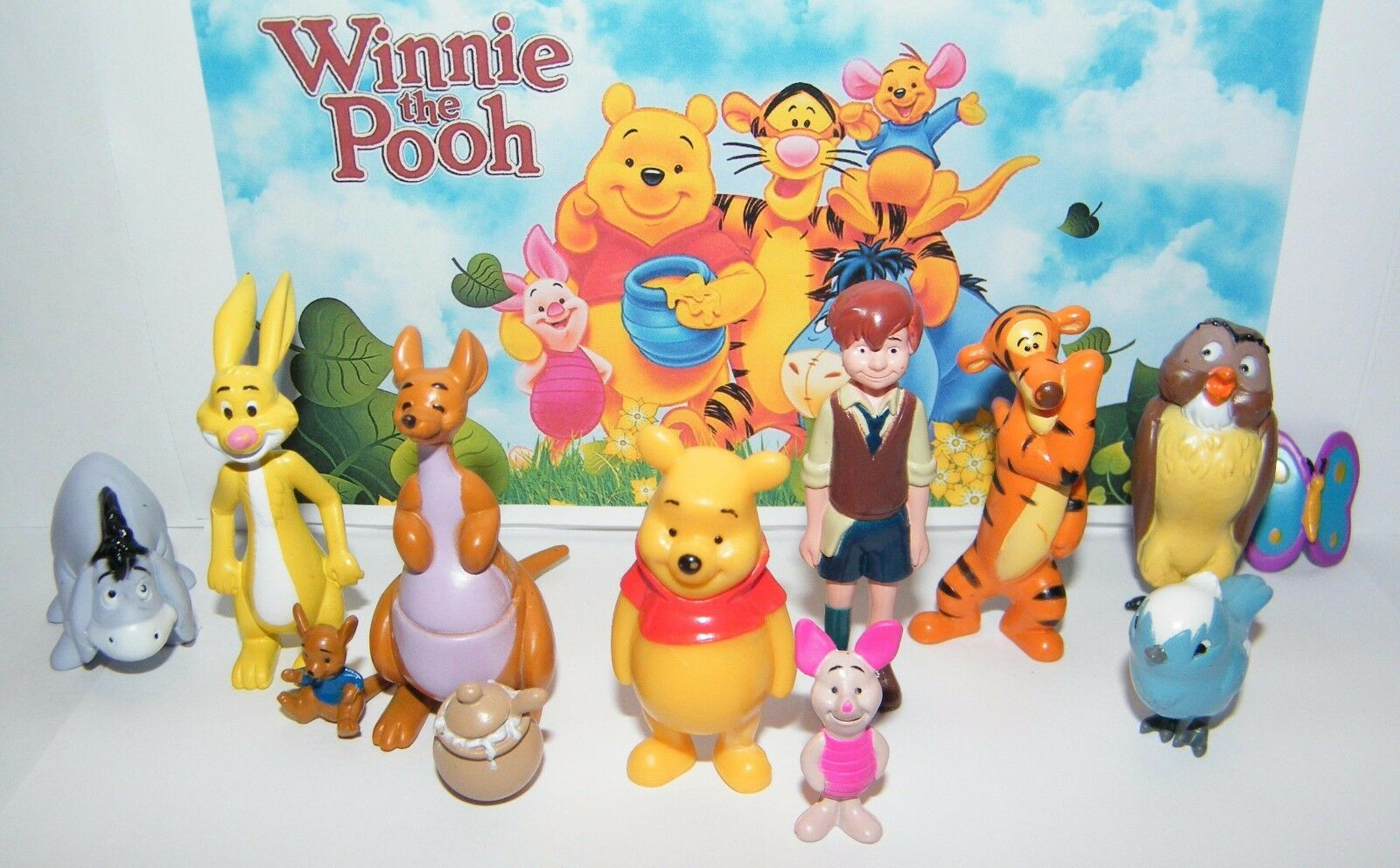 1f5ca3958c7d Disney Winnie The Pooh Figure Set of 12 With Pooh Christopher Robin ...