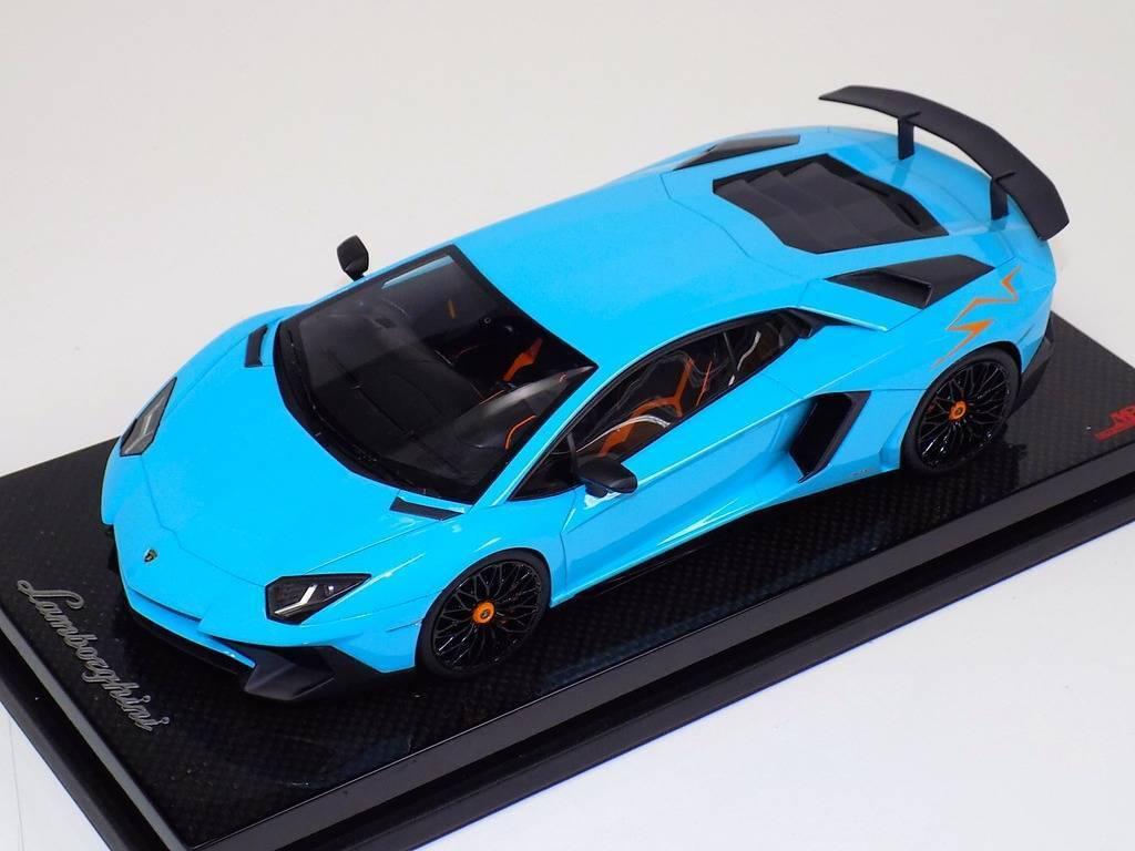 1 18 Lamborghini Aventador Sportverein señor Colección Bebé blu arancia Sportverein base de carbono