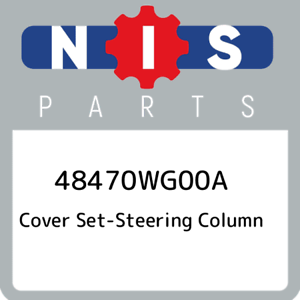 48470WG00A-Nissan-Cover-set-steering-column-48470WG00A-New-Genuine-OEM-Part