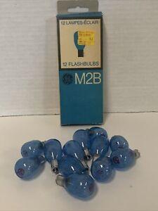 General Electric GE M2B Flashbulbs in Original Box Containing 12 Bulbs