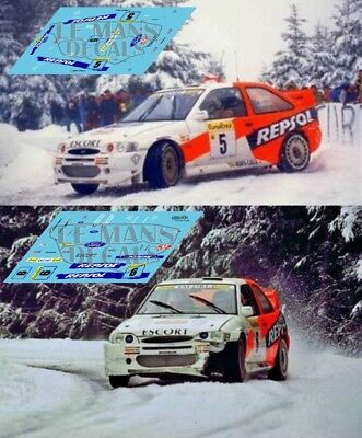 Decals Ford Escort RS Cosworth Rallye Canarias 1997 1:32 1:43 1:24 Thiry calcas
