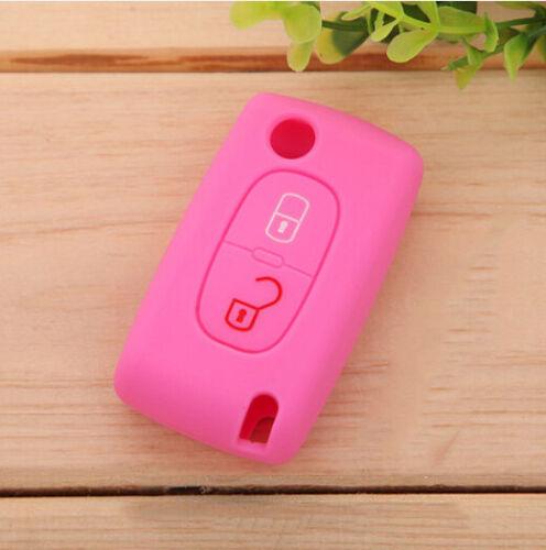 XUKEY Schlüssel Cover Car Key Silikon Hülle für PEUGEOT 308 407 408 206 207 607