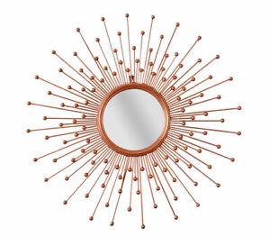 Mirror Gold Flammenspiegel Metal Mirror Baroque Wall Mirror Star Antique