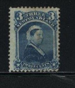 """NEWFOUNDLAND, UNITRADE # 34 USED """"QUEEN VICTORIA, 1873"""" VAL. $75.00"""