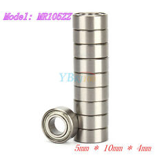 New 10* MR105ZZ Miniature Bearings Ball Mini Bearing 5mm X 10mm X 4mm