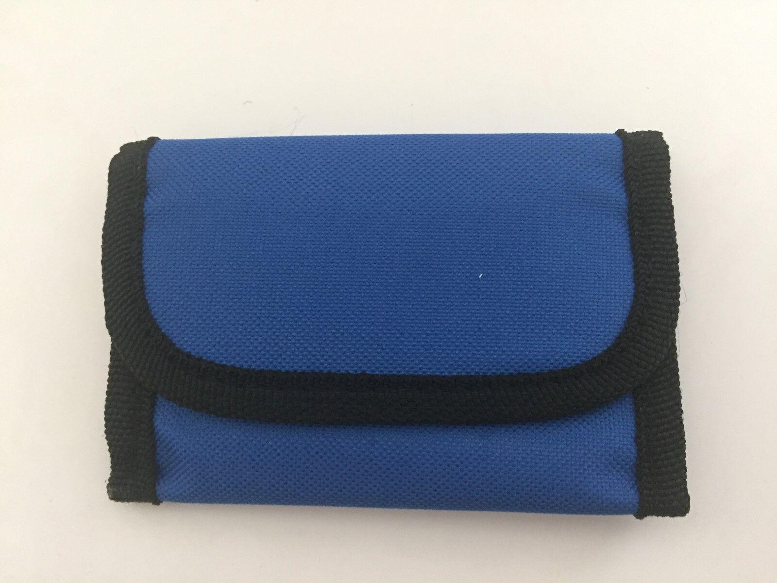 2-Soft Sided Unisex Wallet with Belt Strap-Royal Blue