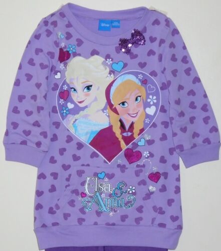 DISNEY FROZEN ANNA AND ELSA LONG SLEEVE TUNIC TOP AND LEGGING SET FREE SHIP