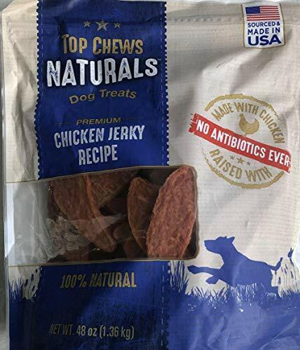 Top Chews 100% Natural Dog Treats Chicken Jerky Recipe 48 OZ (3 LB)