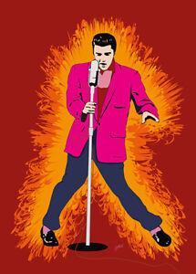 Elvis Presley - Hot Elvis - Original (signed) art print - Jarod Art
