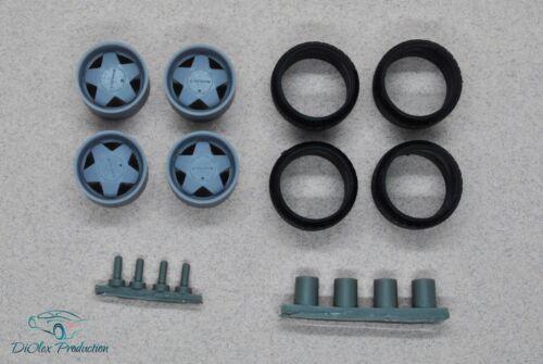 1//24 wheels 15 inch Borbet A with stance tires for Tamiya Aoshima Hasegawa
