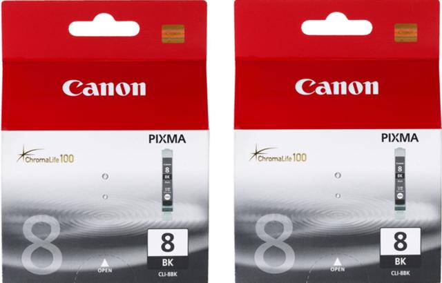 New Genuine Canon CLI-8 Blk 2PK Ink Cartridges PIXMA iP4300 PIXMA iP4500