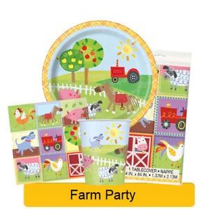 FARM-PARTY-Birthday-Party-Tableware-Banners-Balloons-amp-Decorations-UQ-1C-NEW