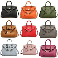 New Classic Women Genuine Leather Tote Handbag Crossbody Top Handle Shoulder Bag