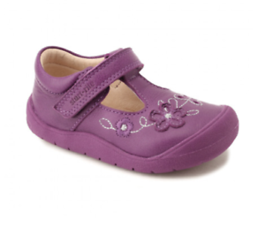 Start-rite Toddler Girls Purple Leather Shoes Mia First Walking//Crawlers BNIB