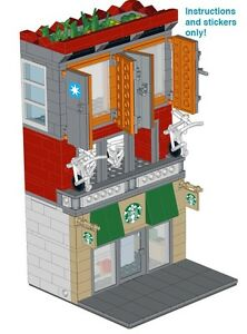 Custom-Instructions-4-LEGO-Starbucks-Maersk-Apartment-Modular-Stickers-coffee