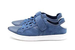 Details zu GEOX RESPIRA Halbschuhe Sneaker Gr. 40 UK 6,5 Blau Leder Wildleder Damen