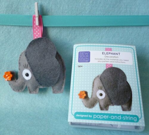 felt sewing kit MINI cute animal christmas gift paper-and-string