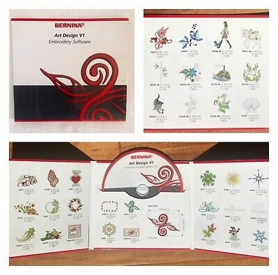 Bernina Art Design V1 Software Embroidery Installation Cd Ebay