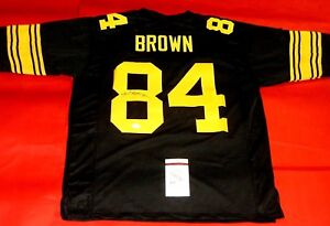 best service 70621 a90b5 Details about ANTONIO BROWN AUTOGRAPHED PITTSBURGH STEELERS COLOR RUSH  JERSEY JSA